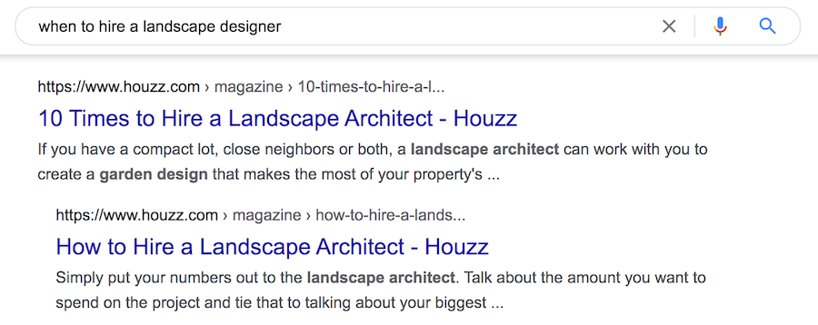 Google Indented Search Results 2021