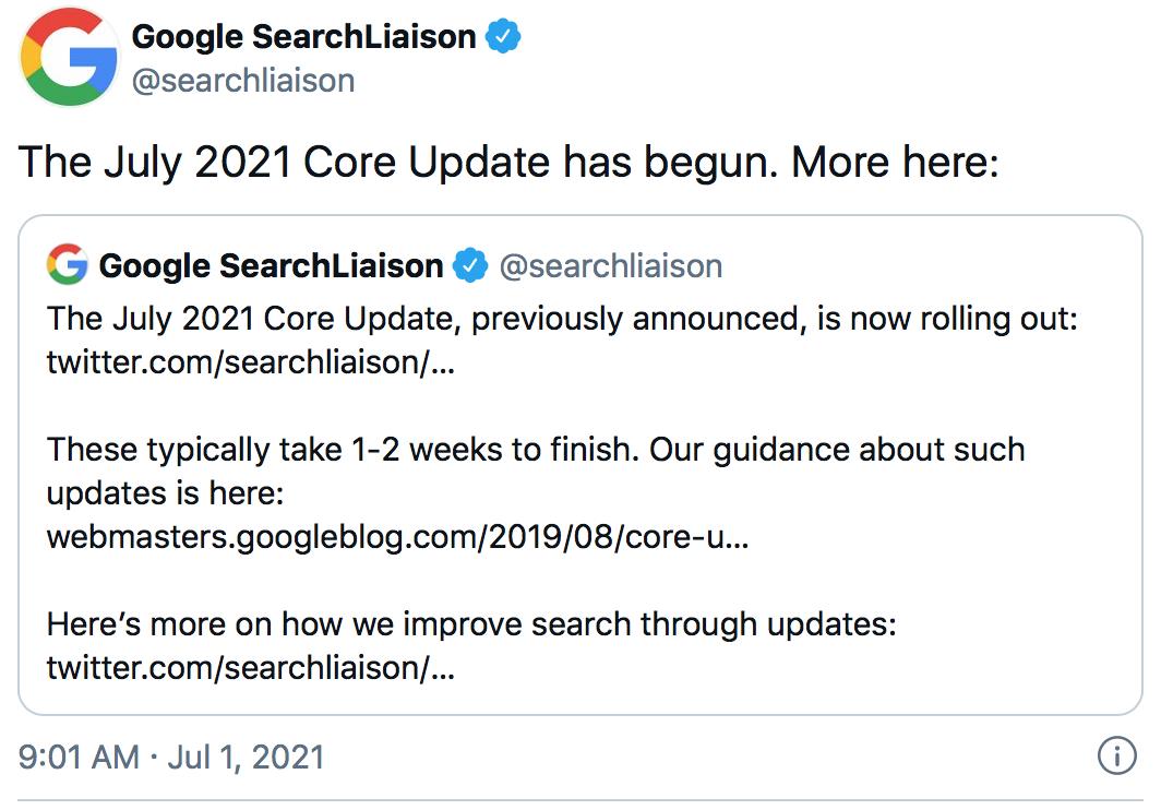 Google Updates - Summer 2021